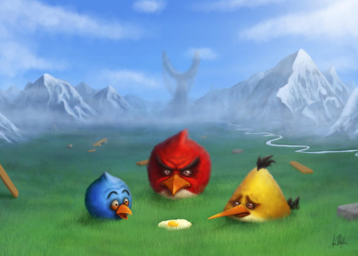 Cv for ann christin cappelen for Angry bird mural